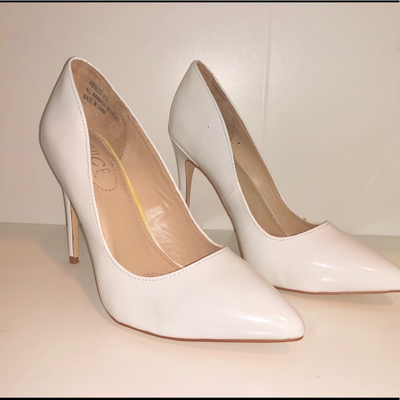 4496ff7bd1e Rouge Helium all white stiletto high heels